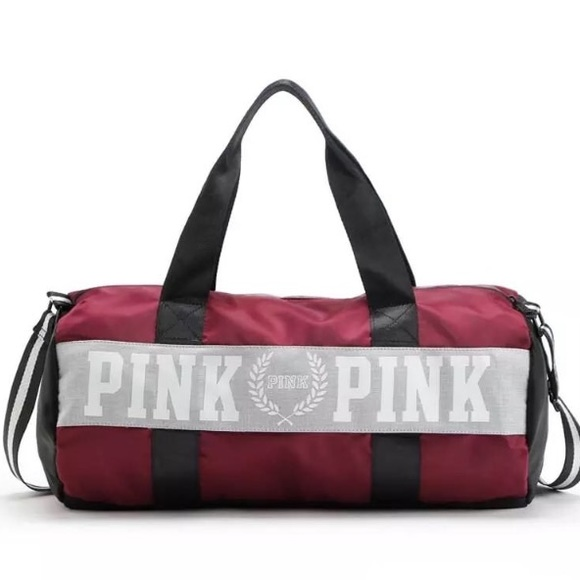 4a0b37f405bc NEW✨ Victoria s Secret PINK Maroon Duffle Gym Bag